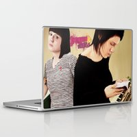 tegan and sara Laptop & iPad Skins featuring Tegan and Sara by Mr. Frogo
