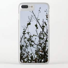 LATE AUTUMN SILHOUETTE Clear iPhone Case