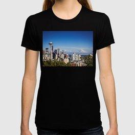 Seattle Overlook with Mt Rainier T-shirt