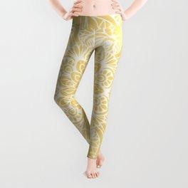 Mandala, Floral, Sun, Wall Art Boho Leggings