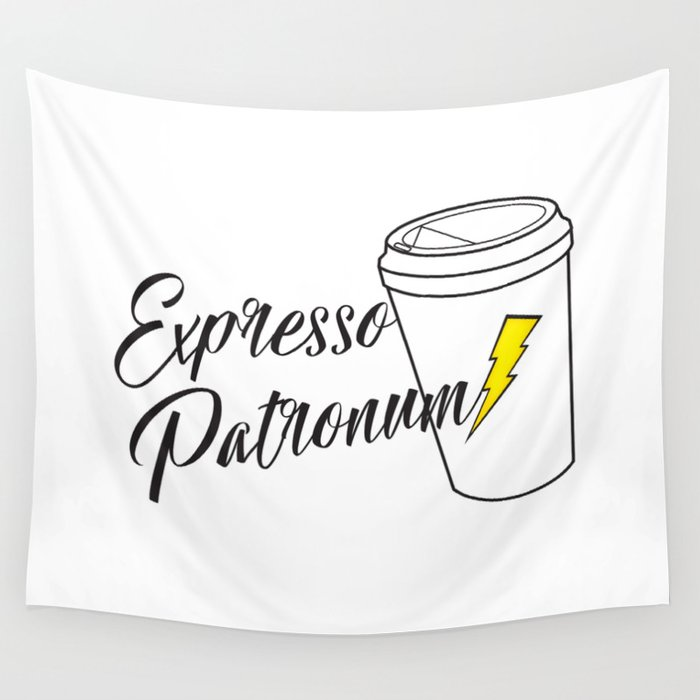 Expresso Patronum Wall Tapestry
