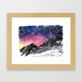 Spark Up The Sky Framed Art Print