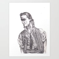 enjolras Art Prints featuring Enjolras by rapunzette