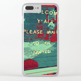 Welcome Y'all - Vector Design Image Clear iPhone Case
