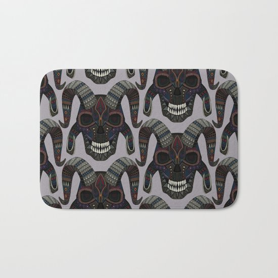 demon skull heather Bath Mat