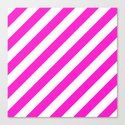 Diagonal Stripes (Hot Magenta/White) by 10813apparel