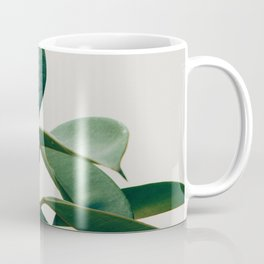 Green Leafs Pattern Coffee Mug