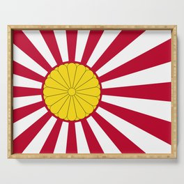 Japanese Flag And Inperial Seal Serving Tray