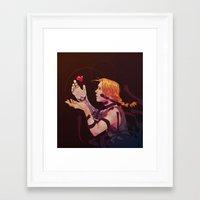 fullmetal Framed Art Prints featuring edward by emvli