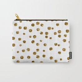 Gold Glitter Confetti Carry-All Pouch