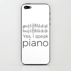 I speak piano iPhone & iPod Skin