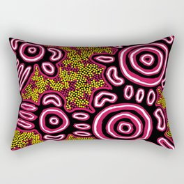 U Belong - Authentic Aboriginal Art Rectangular Pillow