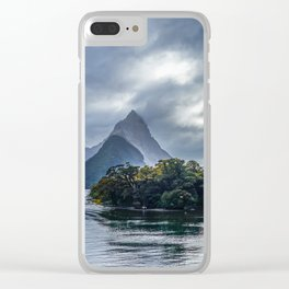Milford Sound, fiordland national park, New Zealand Clear iPhone Case