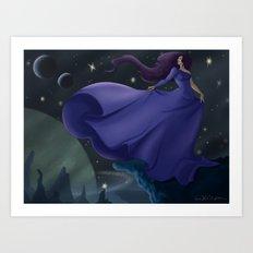 Space Lady Art Print