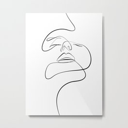 Face of passion Metal Print