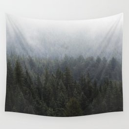Fog in the Trees Wall Tapestry