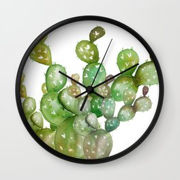 Cactus watercolor  Wall Clock