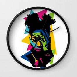 basquiat color jean michel Wall Clock