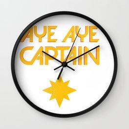 O captain! My captain! - Carol Danvers Wall Clock