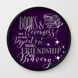 Books and Cleverness Wall Clock