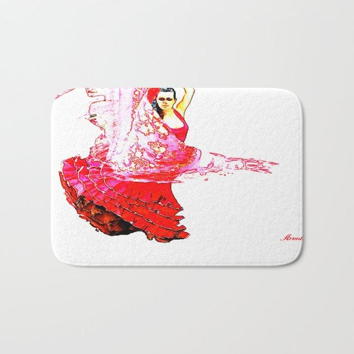 Bailarina Española ( Spanish Dancer ) Bath Mat