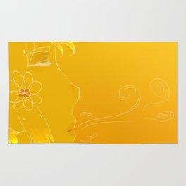 Golden breath Rug