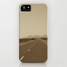 the road to Marfa iPhone Case