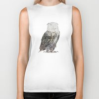 andreas preis Biker Tanks featuring Arctic Owl by Andreas Lie