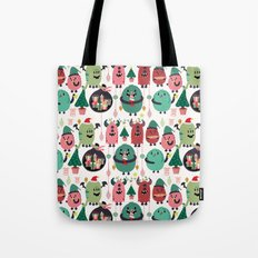 Monster xmas Tote Bag