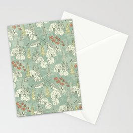 arctic retro Stationery Cards