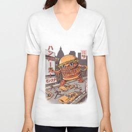 Burgerzilla Unisex V-Neck