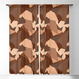 Chocolate Caramels Triangles Blackout Curtain
