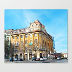 ciobanu palace romania timisoata architecture monument landmark Canvas Print