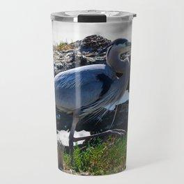 posing heron Travel Mug