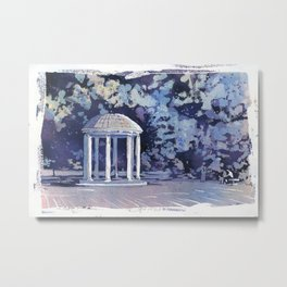 Old Well fine art watercolor painting- Chapel Hill, NC. Metal Print