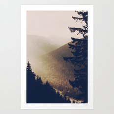 Sunrise in the Mountains  Art Print