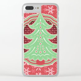 Xmastrees_03b Clear iPhone Case