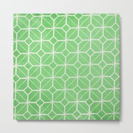 Havana - Green Retro Geometric  Metal Print