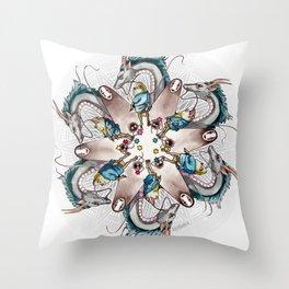 Spirited Away Mandala Throw Pillow