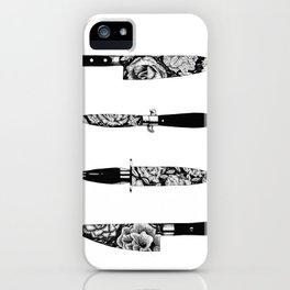 Floral Knives iPhone Case