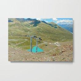 chairlift repair kaunertal alps tyrol austria europe Metal Print
