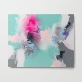 The Josie Abstract Colour Infusion Metal Print