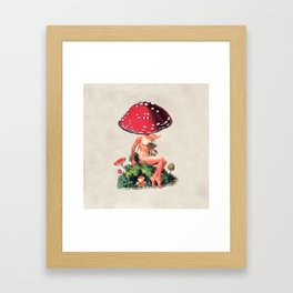 Shroom Girl Framed Art Print