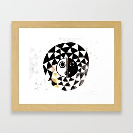 African Sun Mask Framed Art Print