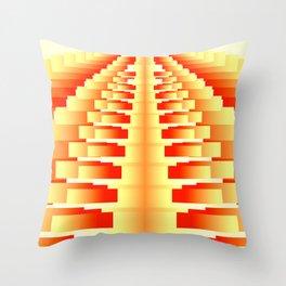 Gradient Stepped Orange Throw Pillow