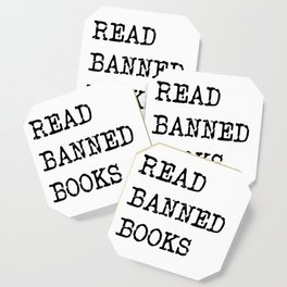Read Banned Books Coaster