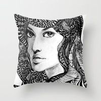 oriental Throw Pillows featuring Oriental by Judy Hung