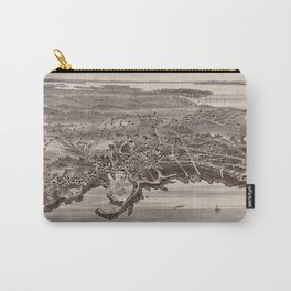 Vintage Map of Pigeon Cove Rockport MA (1886) Carry-All Pouch