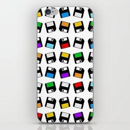 Diskette Retro Pattern Color iPhone Skin