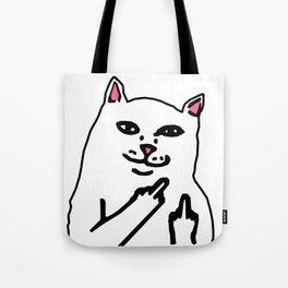 grumpy f**k you cat Tote Bag
